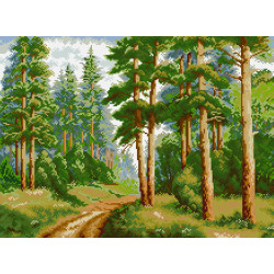 Diamond painting kit Pigeons & White Roses AZ-1099