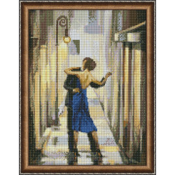 Counted Cross Stitch Kit Girls On Bicycle linen