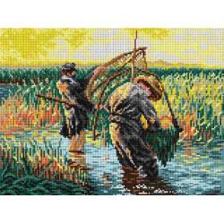 Diamond painting kit Swan Lake AZ-3019