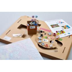 Wizardi 3D Papercraft Kit Wolf Mask PP-3WOL-BLA
