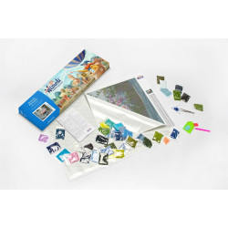 Wizardi Painting by Numbers Kit Provence Village 40x50 cm A003