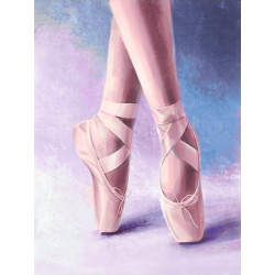 (Discontinued) Wizardi Painting by Numbers Kit Christmas Landscape 40x50 cm A055