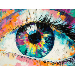 Wizardi Painting by Numbers Kit Mountain Freshness 40x50 cm A085