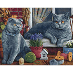 Wizardi Painting by Numbers Kit Morning in the Forest 40x50 cm A092