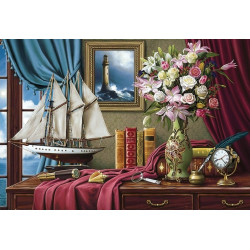 Wizardi Painting by Numbers Kit Sweet Breakfast 40x50 cm B056