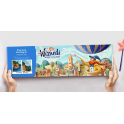 Wizardi Painting by Numbers Kit Pilot 40x50 cm H064