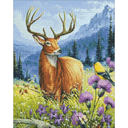 Wizardi Painting by Numbers Kit Cat and Peonies 40x50 cm H113