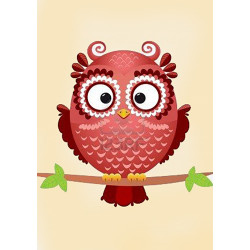 Wizardi Painting by Numbers Kit Flight 40x50 cm K02