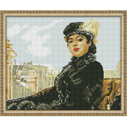 Diamond Painting Kit Cat's Face AZ-1085