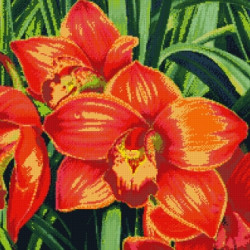 Diamond painting kit Poppies on the Window AZ-1086
