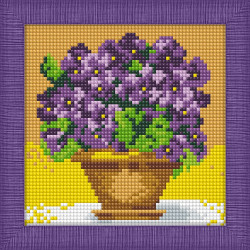 Diamond painting kit Bright Poppies AZ-1135