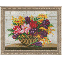 (Discontinued) Diamond painting kit Cat and Cupcake AZ-1190