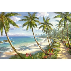 (Discontinued) Diamond painting kit Blooming Tulips AZ-1209