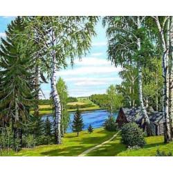 (Discontinued) Diamond painting kit Silent Forest AZ-1236