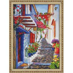 (Discontinued) Diamond painting kit Daisies and Cornflowers AZ-1245