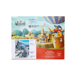 Wizardi painting by number kit. Rainbow Wolf 40x50 cm T102