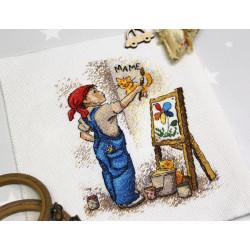 (CLEARANCE SALE) Cross stitch kit Humming bird SC51538