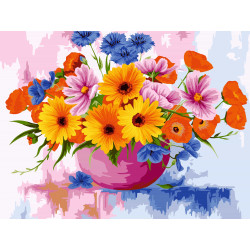 Counted Cross Stitch Kit Girls On Bicycle Linen PN/0007949