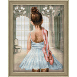 Counted Cross Stitch Kit Garden Blue Birds PN/0008197