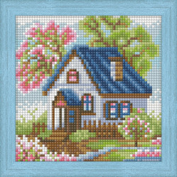 Counted Cross Stitch Kit Poppies Counted Fabric PN/0146360