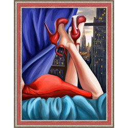 Counted Cross Stitch Kit My Bicycle Counted Fabric PN/0147006
