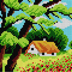 Diamond Painting kit Mayestic Peacocks AZ-204
